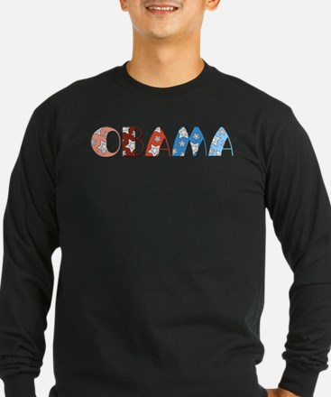 Starry 1920s Obama Long Sleeve T-Shirt