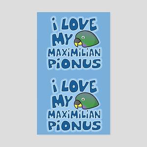 Kawaii Maximilian Pionus Sticker (2 in 1)