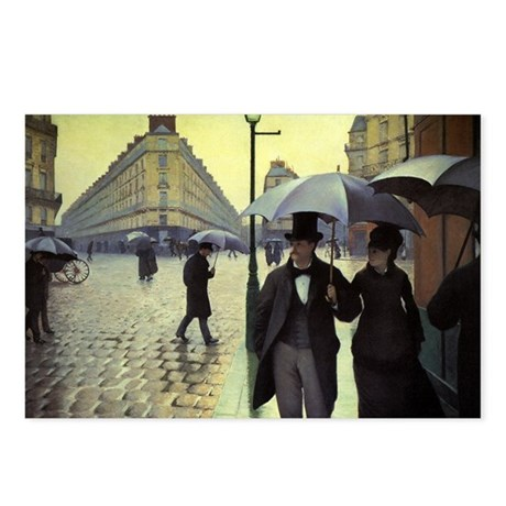 Paris Street Rainy Day by Caillebotte Postcards (P