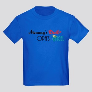 Mommy's Devil, Opa's Angel Kids Dark T-Shirt