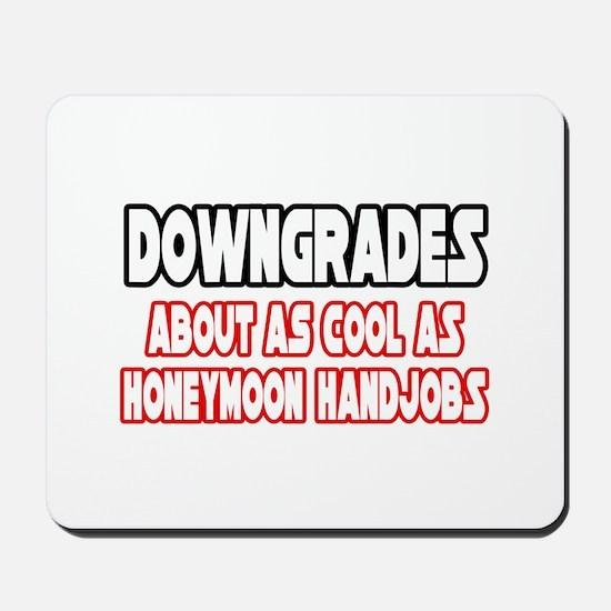 """Downgrades...Not Cool"" Mousepad"