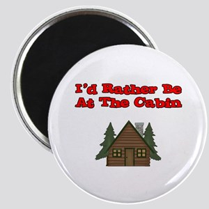 I'd Rather Be At The Cabin Magnet