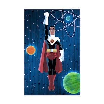 "Captain Blasto 11 x 17"" Poster"