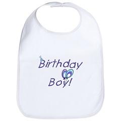 Birthday Boy Bib with Balloons and Hat