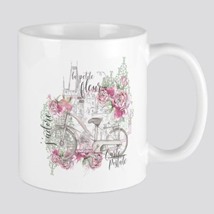 Shabby Chic Bicycle Peony Mugs