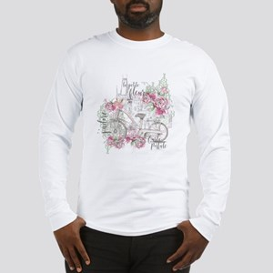 Shabby Chic Bicycle Peony Long Sleeve T-Shirt