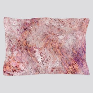 Pink Rose Gold Marble Watercolor Pillow Case