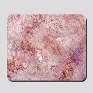 Pink Rose Gold Marble Watercolor Mousepad
