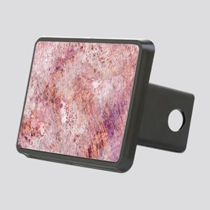 Pink Rose Gold Marble Wate Rectangular Hitch Cover