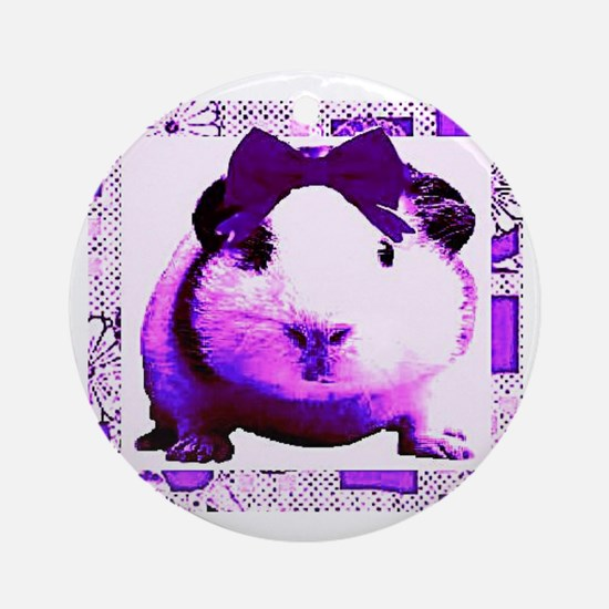 Gorgeous the Guinea Pig Ornament (Round)