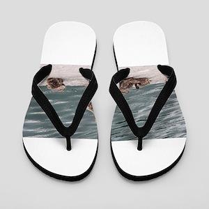 Geese Family Flip Flops