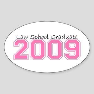 Law School Graduate 2009 (Pink) Oval Sticker