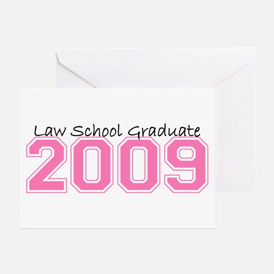 Law School Graduate 2009 (Pink) Greeting Card