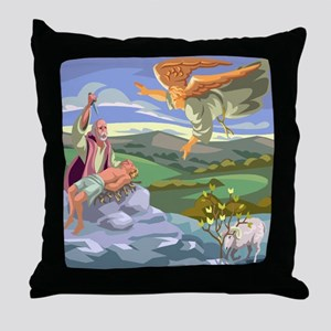 abraham and Isaac Throw Pillow