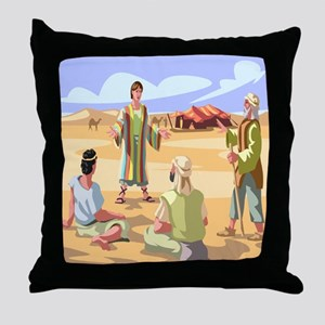 Joseph Coat of Many ColorsThrow Pillow