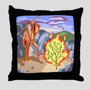 Moses and the Burning BushThrow Pillow