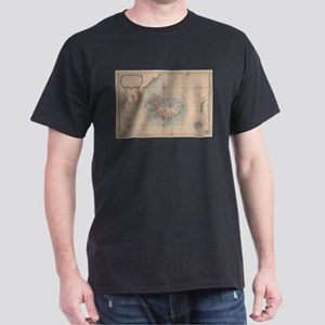 Vintage Map of Iceland (1767) T-Shirt