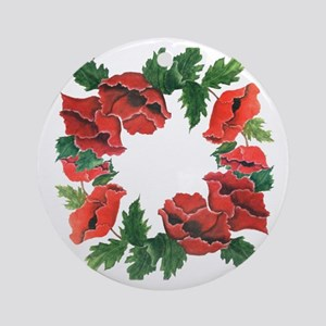 POPPY LOVERS GARDEN Ornament (Round)