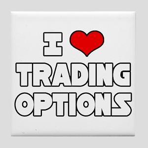 """I Love Trading Options"" Tile Coaster"