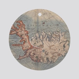 Vintage Map of Iceland (1767) Round Ornament