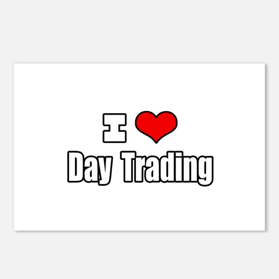 """I Love Day Trading"" Postcards (Package of 8)"