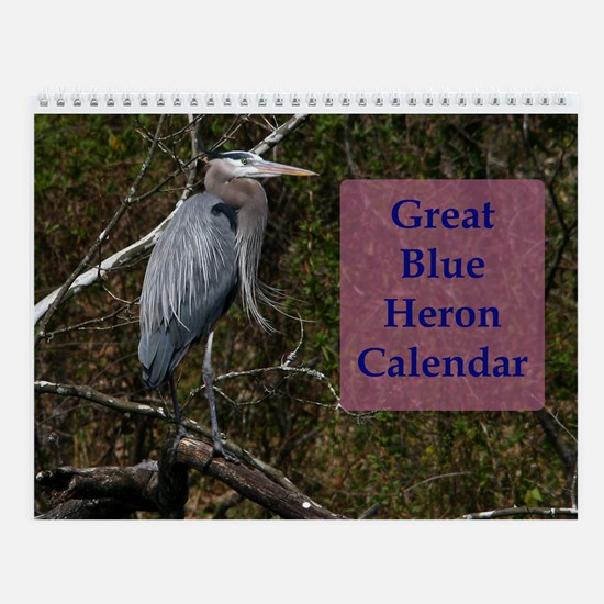 Great Blue Heron Wall Calendar