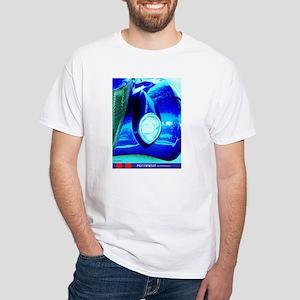Bluer Than Blue Fender T-Shirt (white)