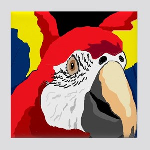 Scarlet Macaw Graphic Tile Coaster