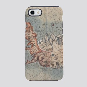 Vintage Map of Iceland (1767) iPhone 7 Tough Case