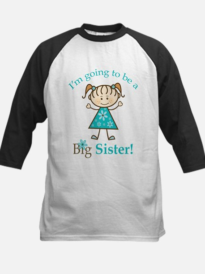 Big Sister to be Kids Baseball Jersey