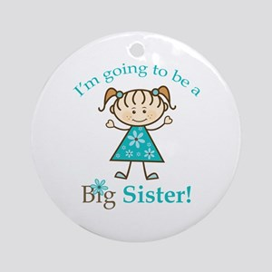 Big Sister to be Round Ornament