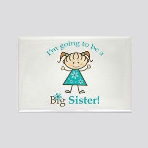 Big Sister to be Rectangle Magnet