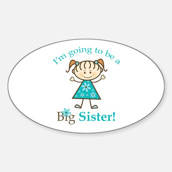 Big Sister to be Sticker (Oval)