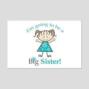 Big Sister to be Mini Poster Print