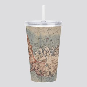 Vintage Map of Iceland Acrylic Double-wall Tumbler
