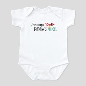 Mommy's Devil, Papaw's Angel Infant Bodysuit