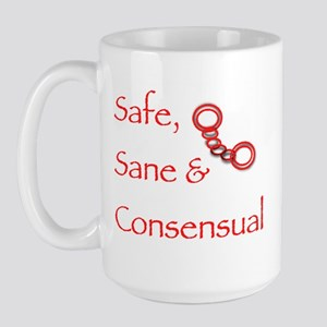 """Safe, Sane and Consensual"" Large Mug"