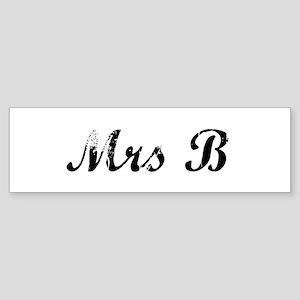 Mrs B Bumper Sticker