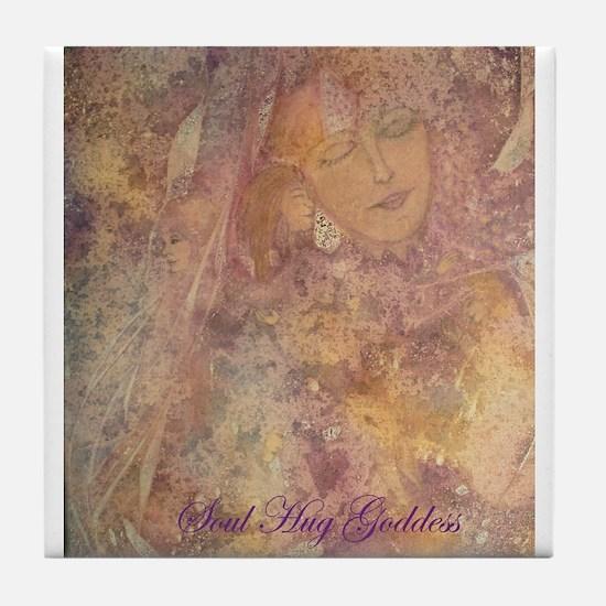 Soul Hug Goddess Tile Coaster