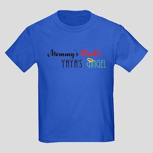 Mommy's Devil, YaYa's Angel Kids Dark T-Shirt