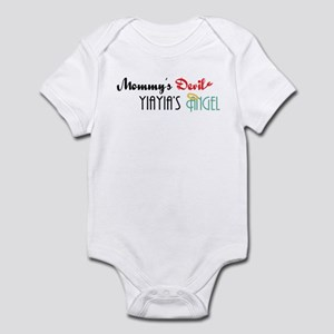 Mommy's Devil, YiaYia's Angel Infant Bodysuit