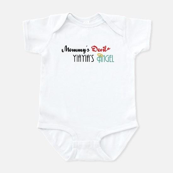 Mommy's Devil, YiaYia's Angel Infant Bodysuit