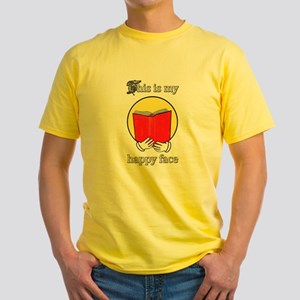 happy emoji reading a book T-Shirt