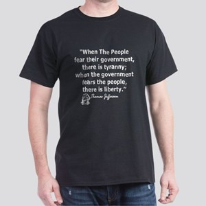 THOMAS JEFFERSON QUOTE Dark T-Shirt