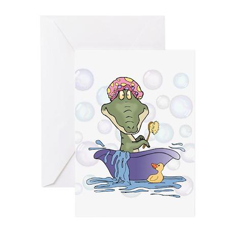 Crazy Gator Bathtime Greeting Cards (Pk of 10)