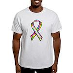 3D Puzzle Ribbon Light T-Shirt