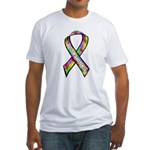 3D Puzzle Ribbon Fitted T-Shirt