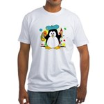 Artistic Penguin Fitted T-Shirt