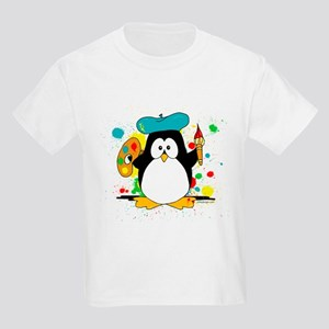 Artistic Penguin Kids Light T-Shirt