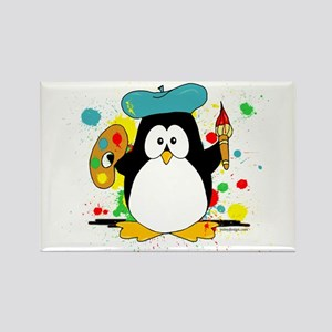 Artistic Penguin Rectangle Magnet